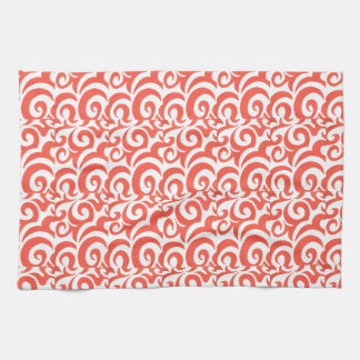 Orange Swirls Kitchen Towel