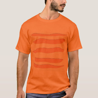 Orange T-Shirt with Tiger Stripes