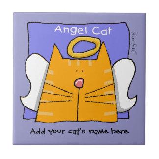 Orange Tabby Cat Angel Personalize Ceramic Tile