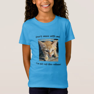 """Orange Tabby Cat """"Don't mess with me!"""" T-shirt"""