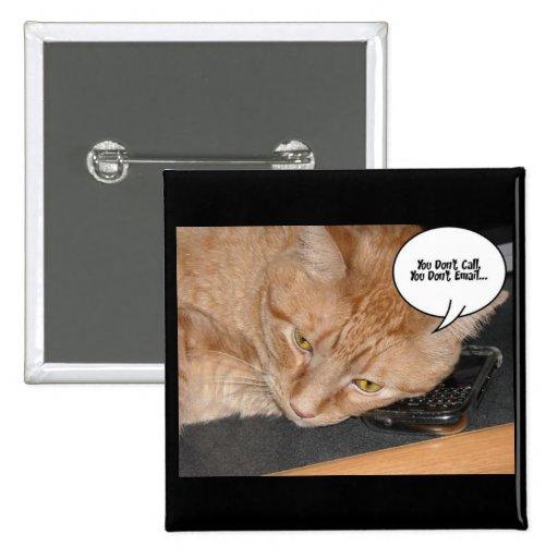 Orange Tabby Cat Humor Button