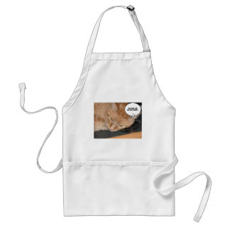 Orange Tabby Cat Humor/Cell Phone Standard Apron