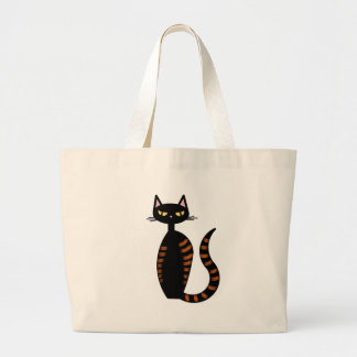 Orange Tabby Cat Large Tote Bag