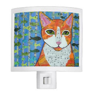 Orange Tabby Cat Nite Lite