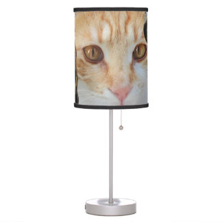 Orange Tabby cat Table Lamp