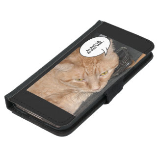 Orange Tabby Humor Samsung Galaxy S5 Wallet Case