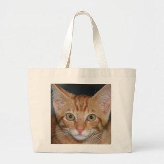 Orange Tabby Kitten tote bag