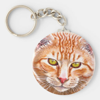 Orange Tabby Painting Keychain