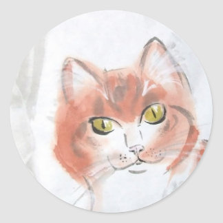 Orange Tabby Stickers
