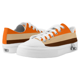 Orange Tan and Brown Striped Lo-Top