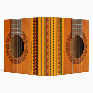 Orange tan colored classical guitar 3 ring binder