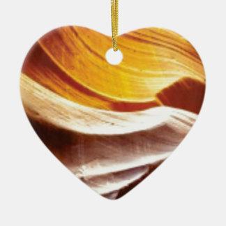 orange tan sun rocks ceramic ornament