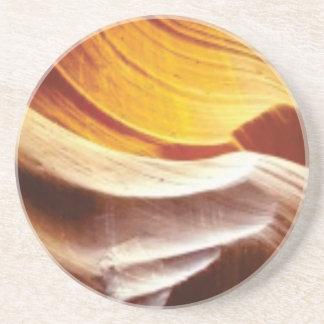 orange tan sun rocks coaster