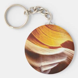 orange tan sun rocks keychain