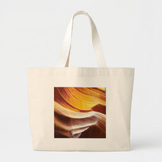 orange tan sun rocks large tote bag