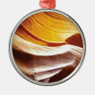 orange tan sun rocks metal ornament