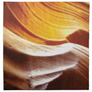 orange tan sun rocks napkin