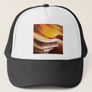 orange tan sun rocks trucker hat