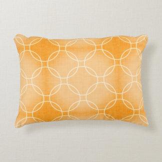 Orange Tangerine Circle Pattern Throw Pillow