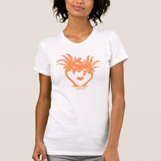 Orange Tangerine Palm Tree Beach Wedding T-SHIRT