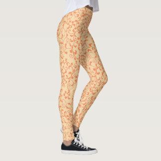 Orange Tangled Vines Leggings