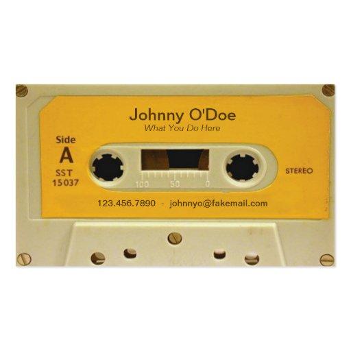 Orange Tape Business Card Templates