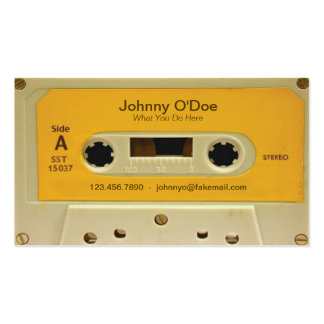 Orange Tape Pack Of Standard Business Cards