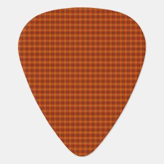 Orange Tartan Guitar Picks Guitar Pick