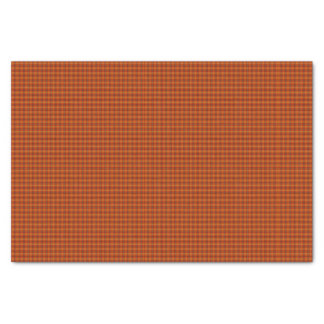 Orange Tartan Tissue Paper