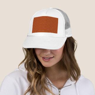 Orange Tartan Trucker Hat