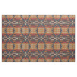 Orange Taupe Brown Red Teal Blue Ethnic Look Fabric