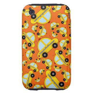 Orange taxi pattern iPhone 3 tough cases