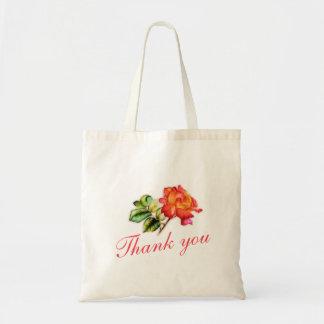 Orange tea rose wedding thank you bag