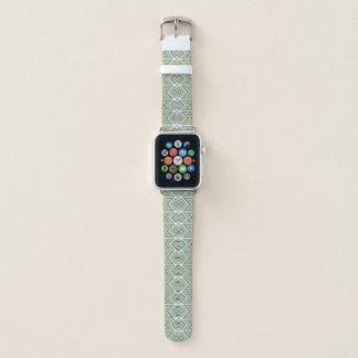 Orange Teal Turquoise Green Tribal Mosaic Pattern Apple Watch Band
