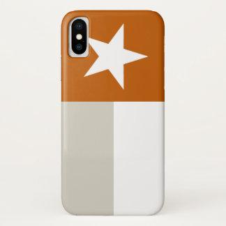 Orange Texas Flag iPhone X Case