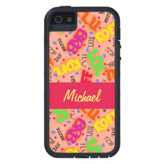 Orange Text Art Symbols Abbreviations Colorful Case For The iPhone 5