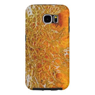Orange Texture Samsung Galaxy S6 Cases