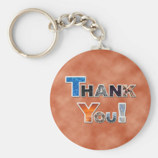 Orange Thank You Keychain