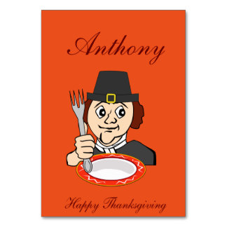 Orange Thanksgiving Table Cards Hungry Pilgrim