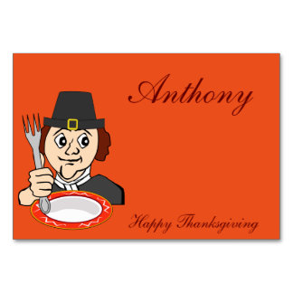 Orange Thanksgiving Table Cards Hungry Pilgrim