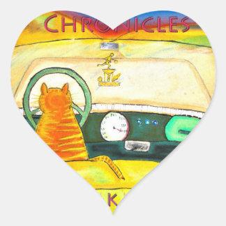 Orange the Cat heart stickers