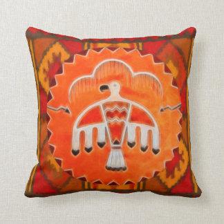 Orange Thunderbird Throw Pillow