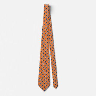 Orange Ties For Men Blue Silhouette Tree Frog