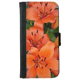 Orange tiger lilies iphone wallet case