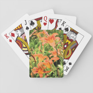 Orange Tiger Lilies Playing Cards