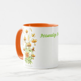 Orange Tiger Lillies Personalized Mug