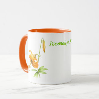 Orange Tiger Lily Personalized Mug