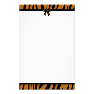 Orange Tiger Stripe Stationary Stationery