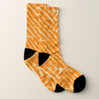 Orange Tiger Stripes Canvas Look 1
