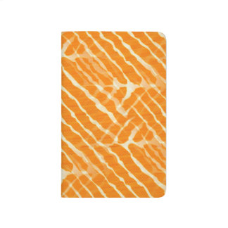 Orange Tiger Stripes Canvas Look Journal